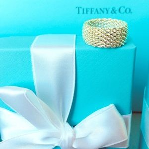 Tiffany & Co. Silver Mesh Ring Size 7 (New!)